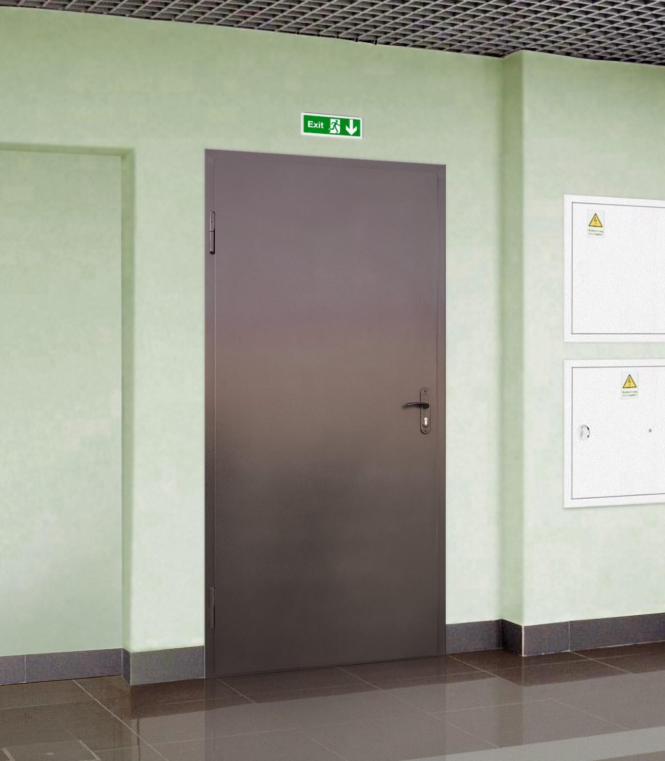 Противопожарная техническая дверь фото