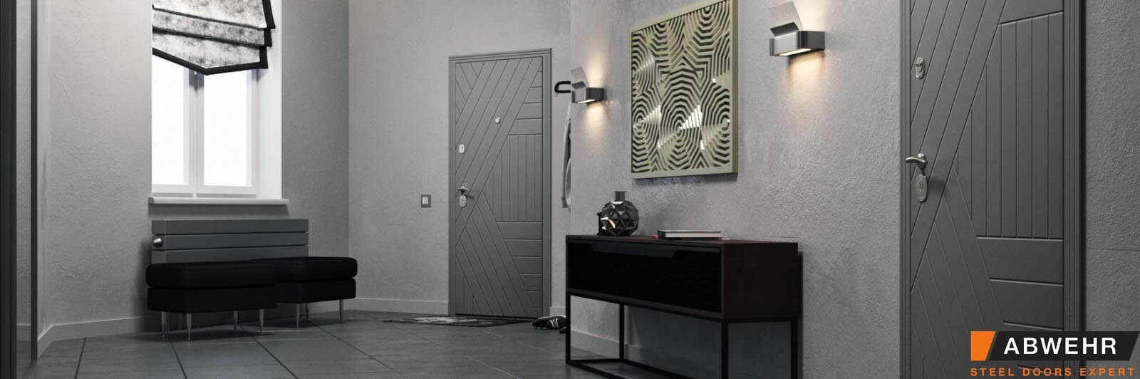 Двері Абвер Мірта фото в інтер'єрі
