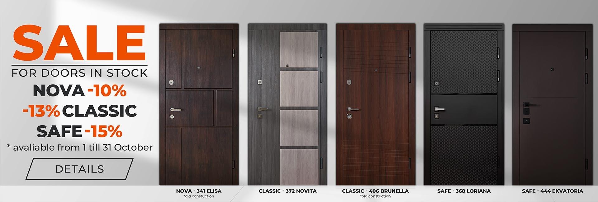 Sales for doors in stock